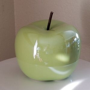 Green Ceramic Apple Figurine